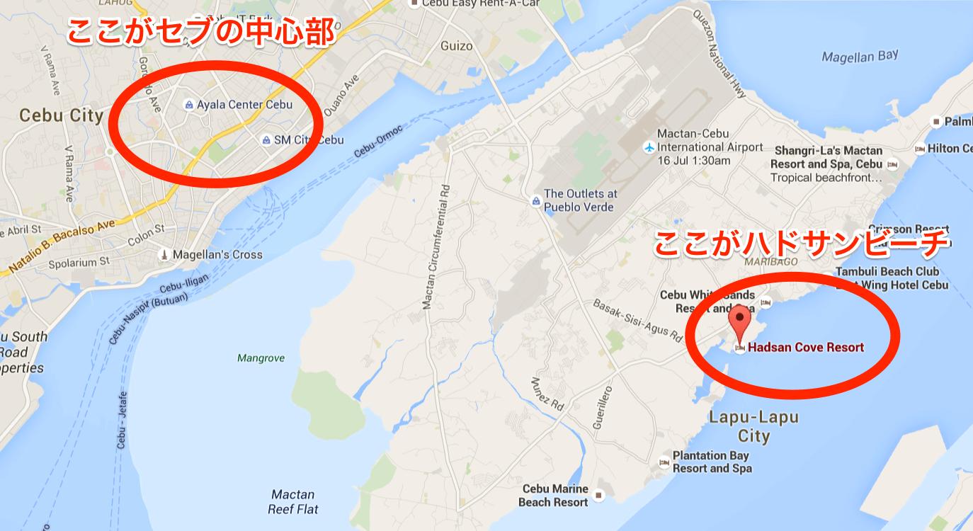 ハドサンビーチの地図 (1)