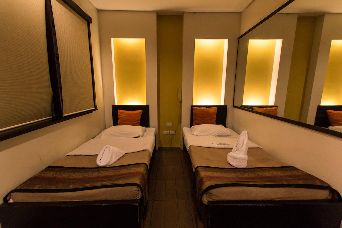 Hotel Mikkaの室内:ツインルーム