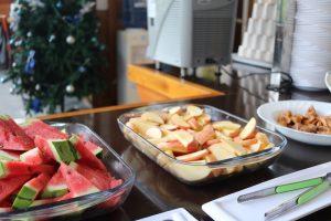 セブ島CPIのランチのフルーツ写真