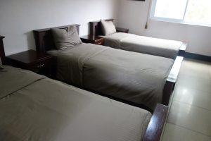 セブ島CPIの3人部屋のベッドの写真